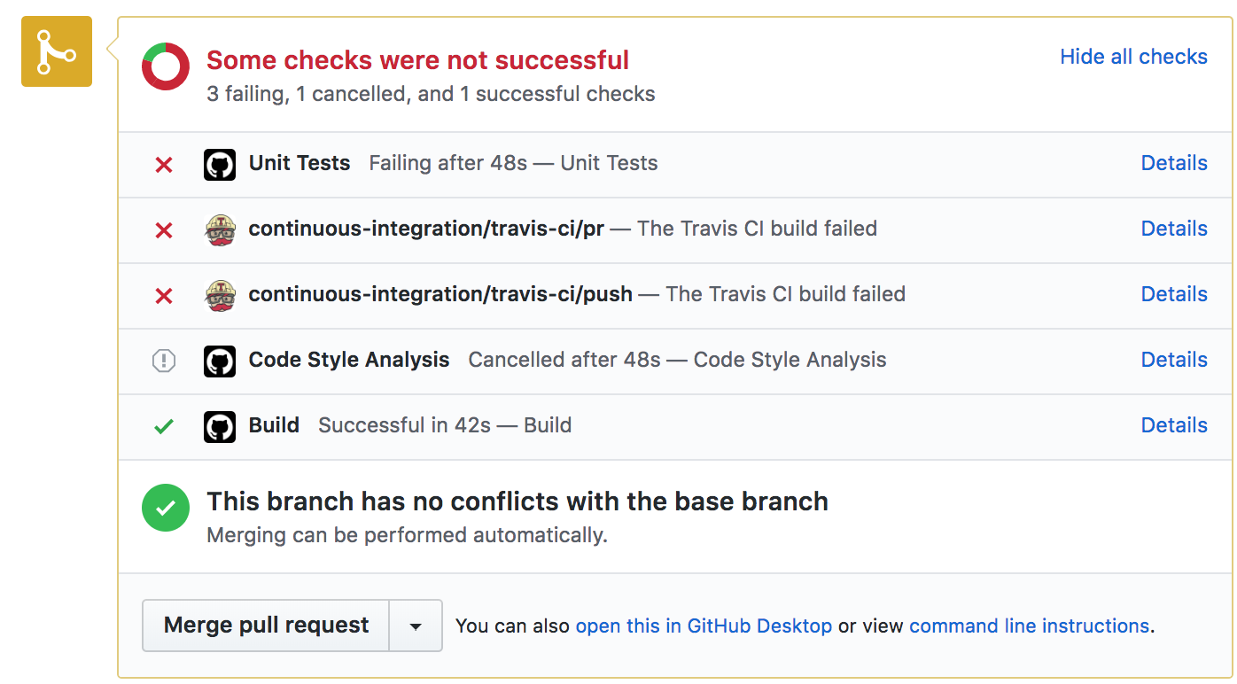 Unit Test and Code Style Failures